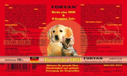 Biotin-plus MSM Tabs